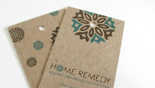 Mẫu sản phẩm nhãn mác bằng chất liệu giấy kraft
