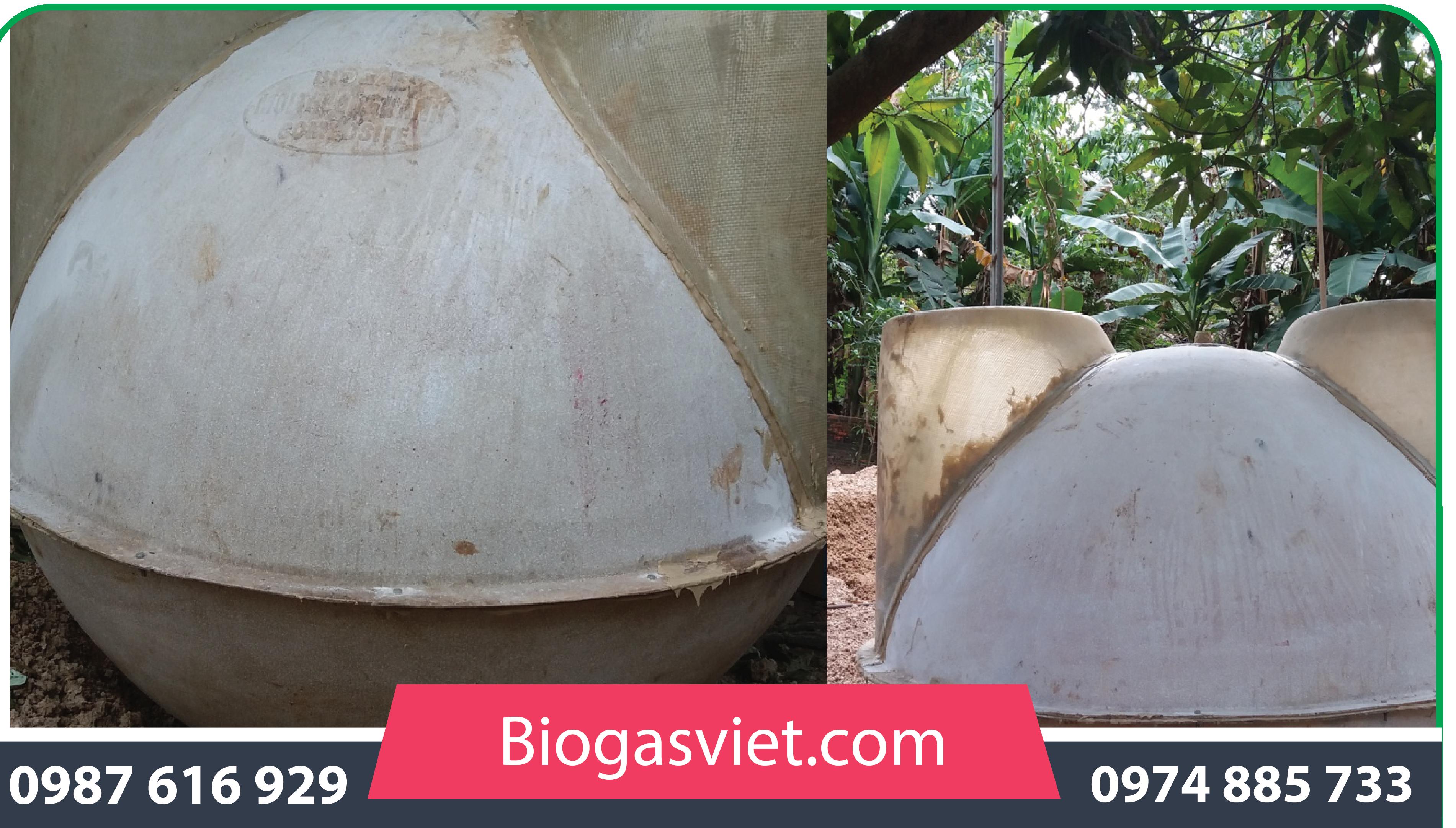 cách lắp đặtbể biogas composite